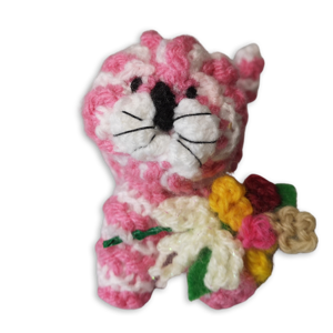 Bagpuss with flowers